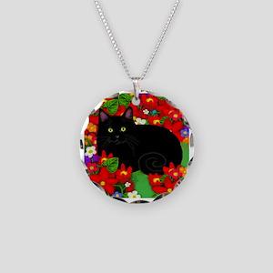 catblgarden copy Necklace Circle Charm