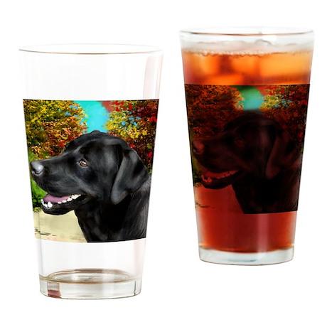 labrador 3 Drinking Glass