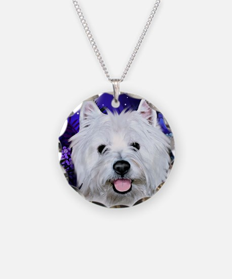 westie moon copy Necklace