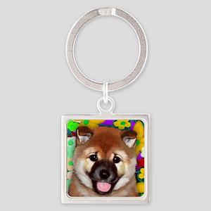 shiba inu pup copy Square Keychain