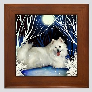 eskie snown copy Framed Tile