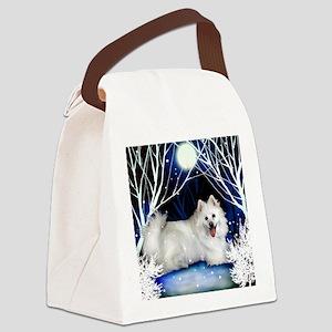eskie snown copy Canvas Lunch Bag