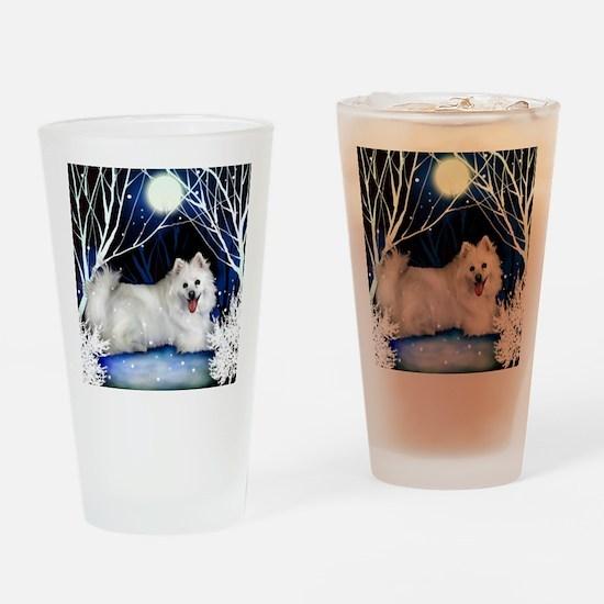 eskie snown copy Drinking Glass