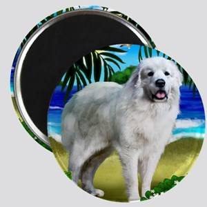 Great Pyrenees beach copy Magnet