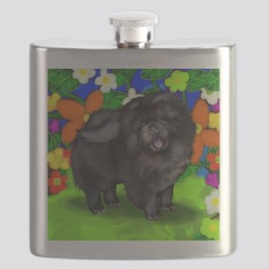 chows bl dogs copy FL Flask
