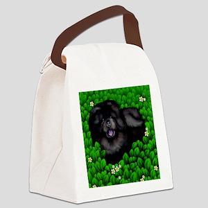 chowblackbush copy Canvas Lunch Bag