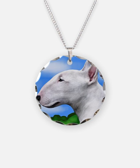 bullterriertrees copy Necklace Circle Charm