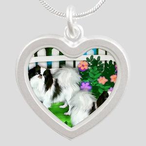 japanise chin garden copy Silver Heart Necklace