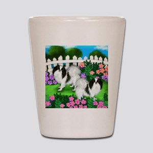 japanise chin garden copy Shot Glass