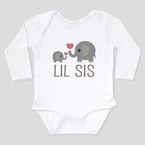 Lil Big Sis Long Sleeve Infant Bodysuit