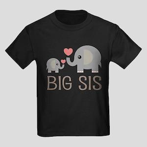 Lil Big Sis Kids Dark T-Shirt
