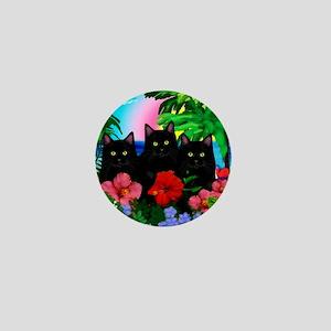 beachparadise bl cats Mini Button