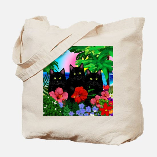 beachparadise bl cats Tote Bag