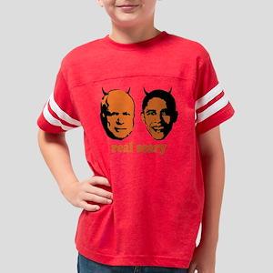 real scary 1 Youth Football Shirt