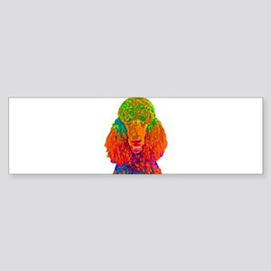 Psychadelic Poodle Bumper Sticker