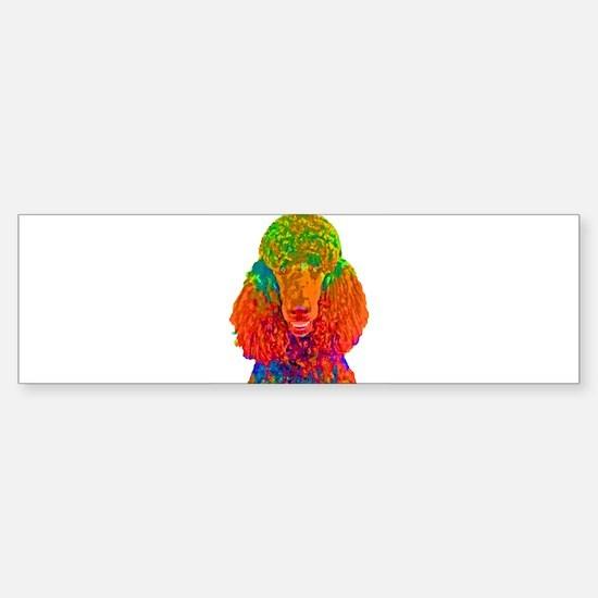 Psychadelic Poodle Bumper Bumper Bumper Sticker
