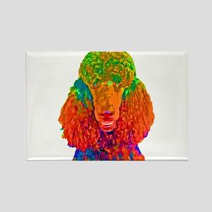 Psychadelic Poodle Rectangle Magnet