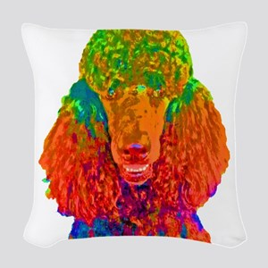 Psychadelic Poodle Woven Throw Pillow