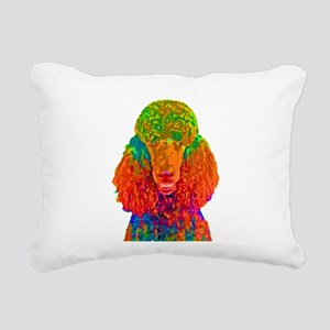 Psychadelic Poodle Rectangular Canvas Pillow
