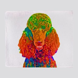 Psychadelic Poodle Throw Blanket