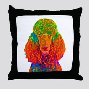 Psychadelic Poodle Throw Pillow