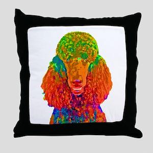 Psychadelic Poodle Throw Pillow