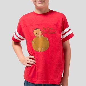 Cute Pumpkin Baby Med Skin Youth Football Shirt