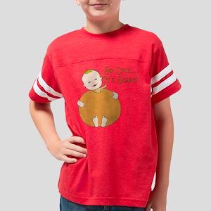 Cute Pumpkin Baby Blonde Youth Football Shirt