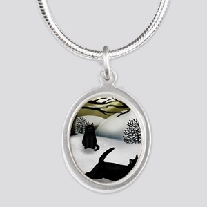 WS BCATS Silver Oval Necklace