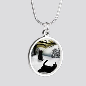 WS BCATS Silver Round Necklace