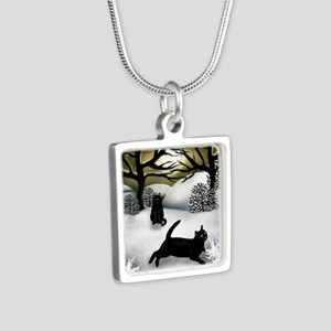 WS BCATS Silver Square Necklace