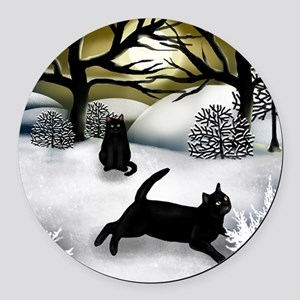 WS BCATS Round Car Magnet