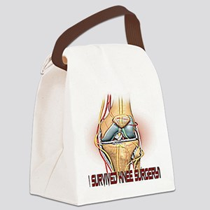 I Survived Knee Surgery color Canvas Lunch Bag