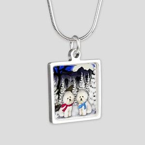 WN BF Silver Square Necklace