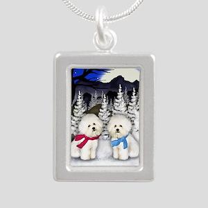 WN BF Silver Portrait Necklace