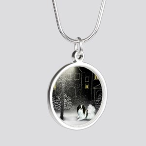 WC JC copy Silver Round Necklace