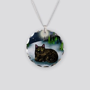 WM tcat Necklace Circle Charm
