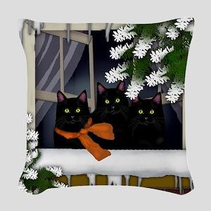 ww bcats copy Woven Throw Pillow