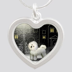 SC BF Silver Heart Necklace