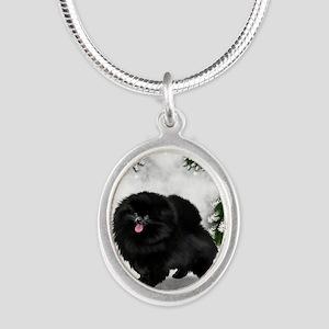 SF bpom Silver Oval Necklace