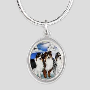 FROZENLAKE asd Silver Oval Necklace