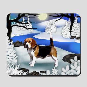 fr beagle Mousepad