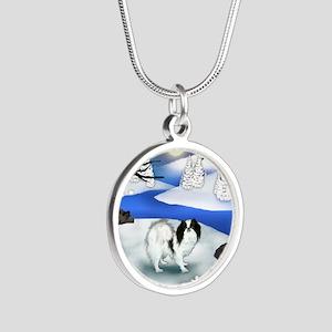 FR jc Silver Round Necklace