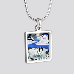 FR jc Silver Square Necklace