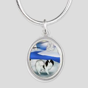 FR jc Silver Oval Necklace