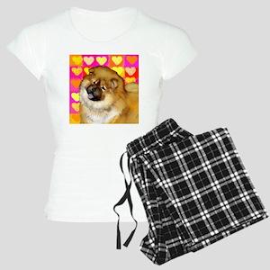 chow love copy Women's Light Pajamas