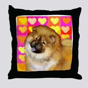 chow love copy Throw Pillow