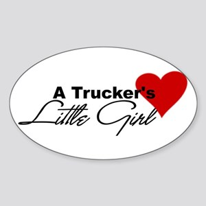 Trucker's Little Girl Oval Sticker