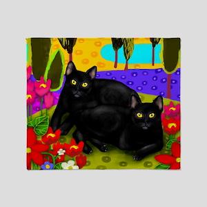 blackcats print Throw Blanket