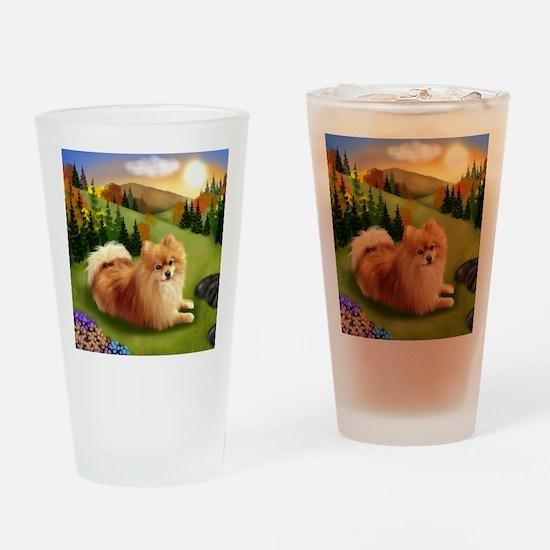 pomsunset Drinking Glass